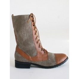 Two Toned Tan Boots $52