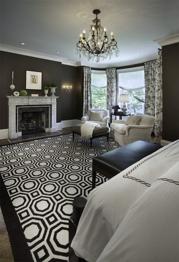 The Black And White Magic Design Traditional Bedroom Design Traditional Bedroom Home