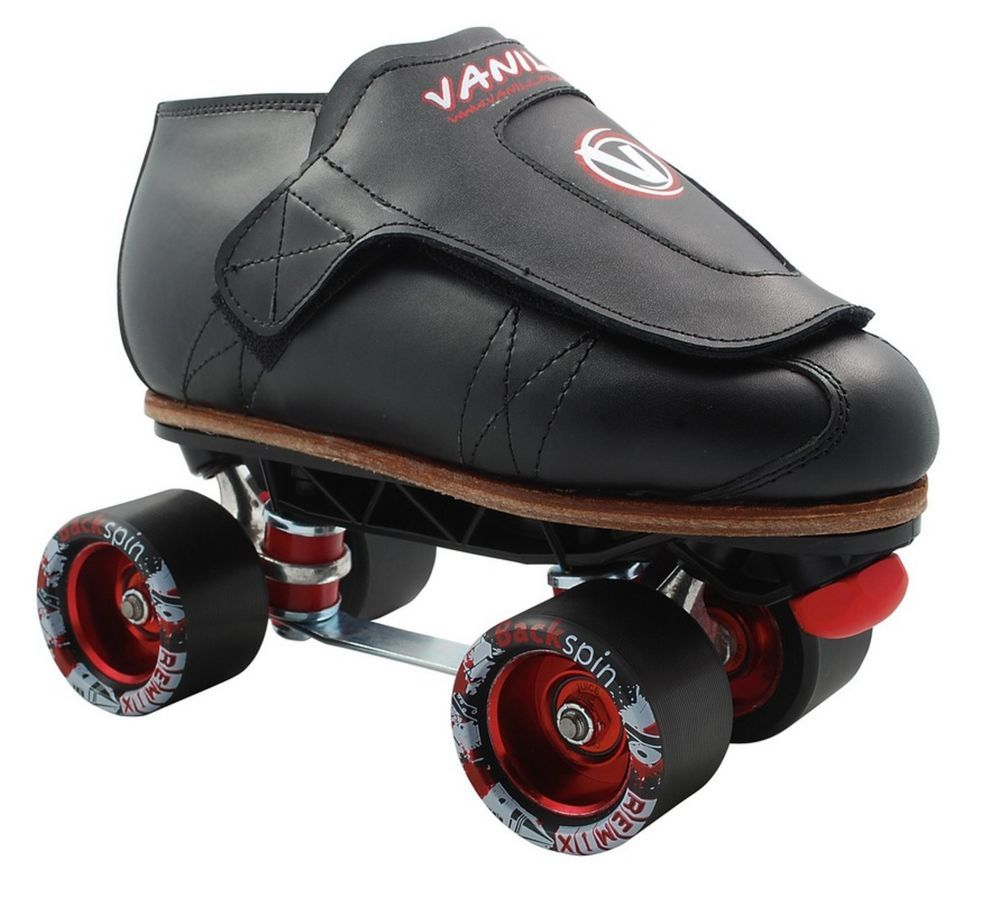 Quad Roller Skate Boots Vanilla Freestyle Top Grain Leather Size 4-13