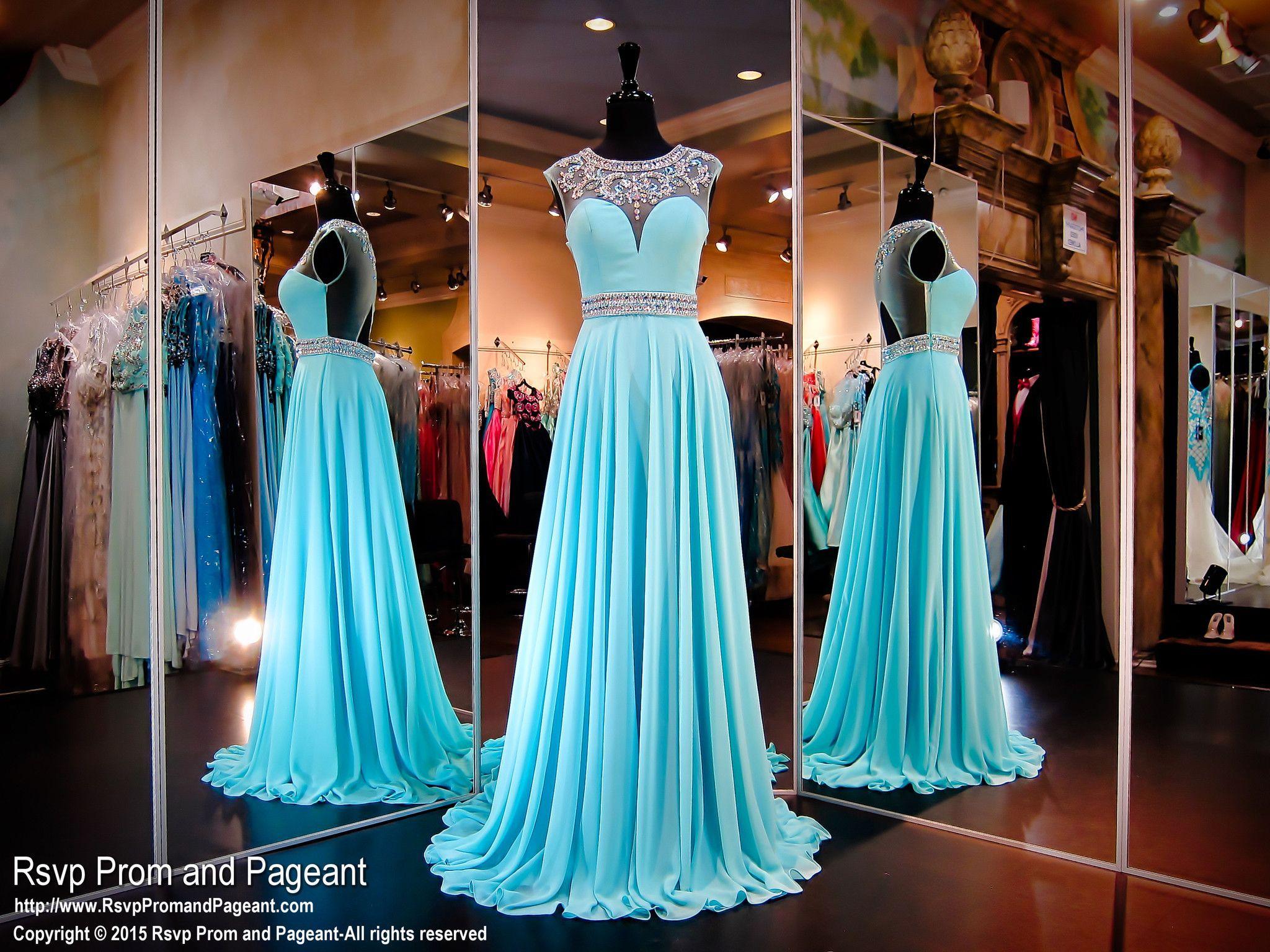 Turquoiseopen backchiffon prom dress vestidos pinterest prom