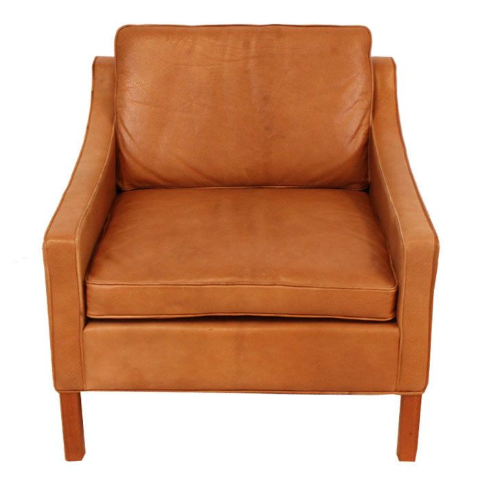 Mid-Century Leather Arm Chair