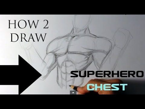 how to draw a superhero chest easy drawings youtube