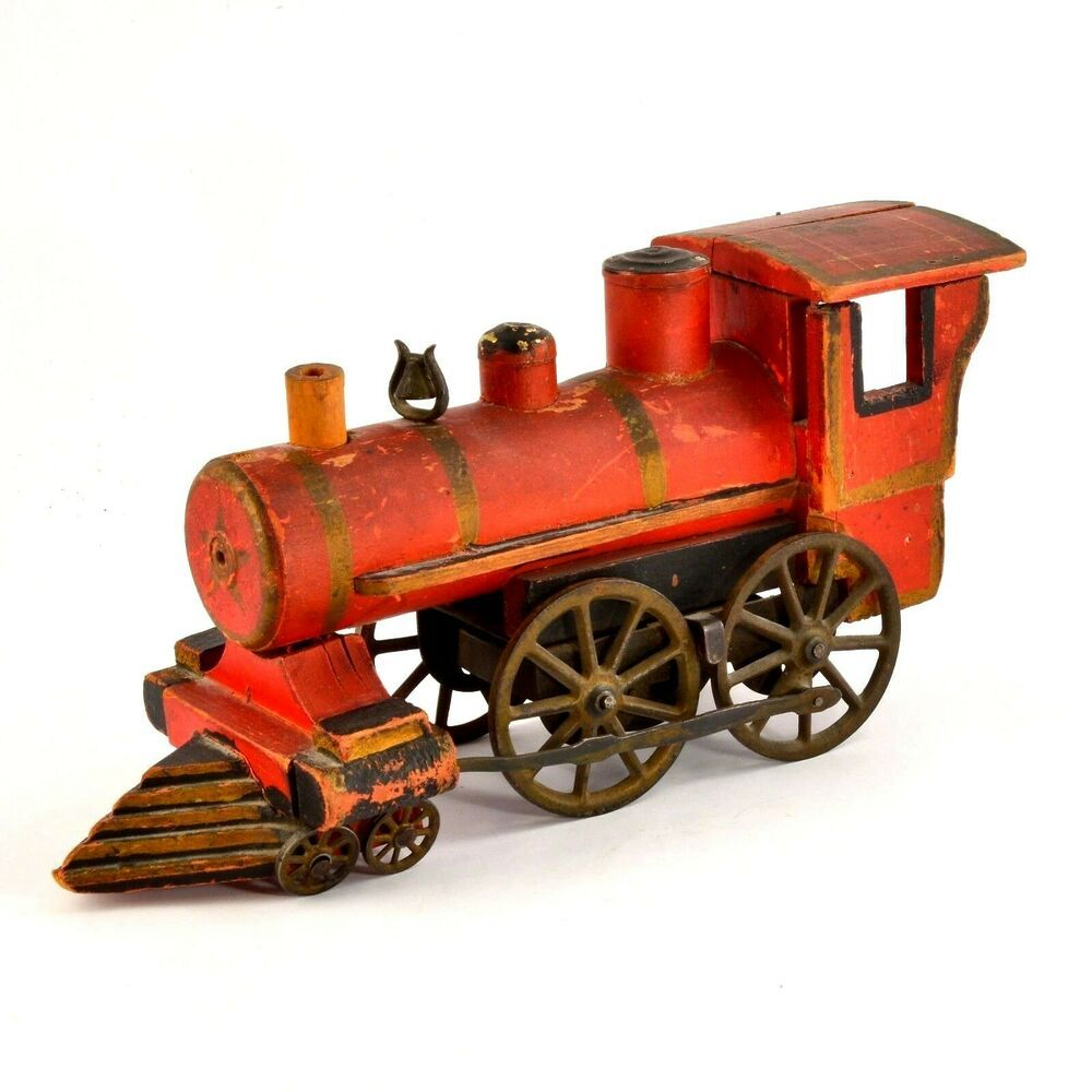 1880 Antique Wooden Steam Engine Model Trains Engine Working Train Engines