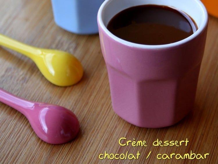 Superior Creme Dessert Au Chocolat #13: Crème Dessert Au Chocolat Au Lait Et Carambar