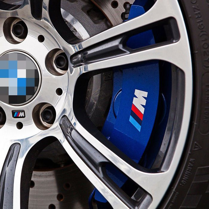 4 X M Power Color Brake Caliper Decal Sticker Cast Vinyl Anti High Temp For Bmw Unbranded Bmw Power Colors Brake Calipers