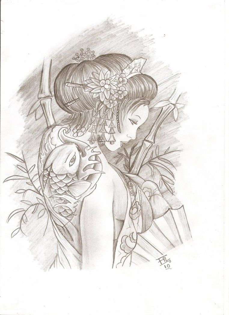 Geisha By Filnagaro D31l7hh Jpg 762 1048 Arte Da Tatuagem
