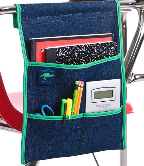 the aussie pouch side pocket is designed for student desks that rh pinterest com