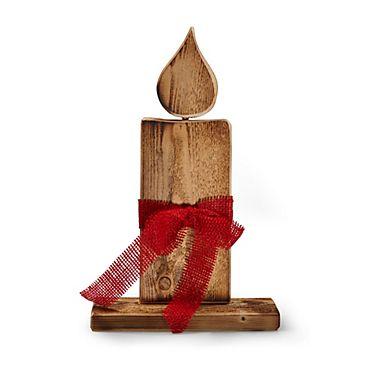 Wundersch 246 Ne Kerze Aus Gefl 228 Mmtem Holz Winterliches