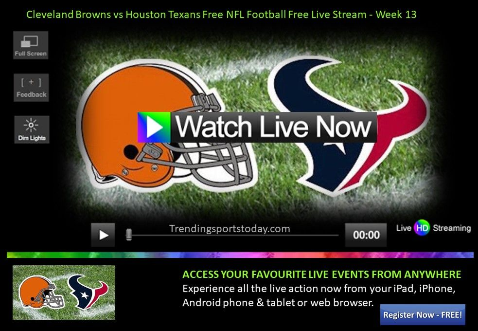 Cleveland Browns vs Houston Texans Free NFL Football Free
