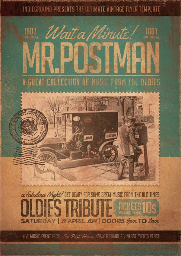 Betype Vintage Flyer Poster Template By Roberto Perrino Download