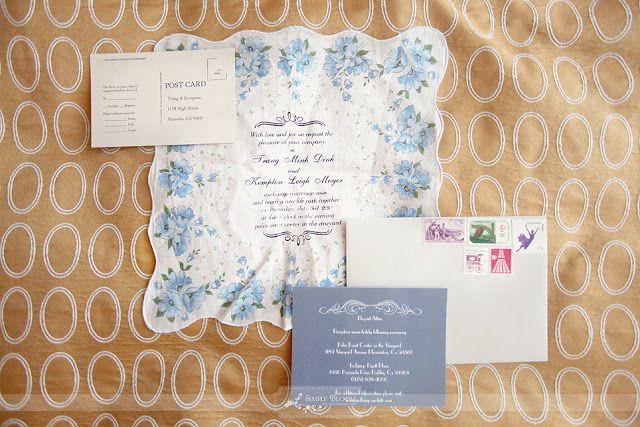 Lenços como convites de casamento | Blog de Casamento