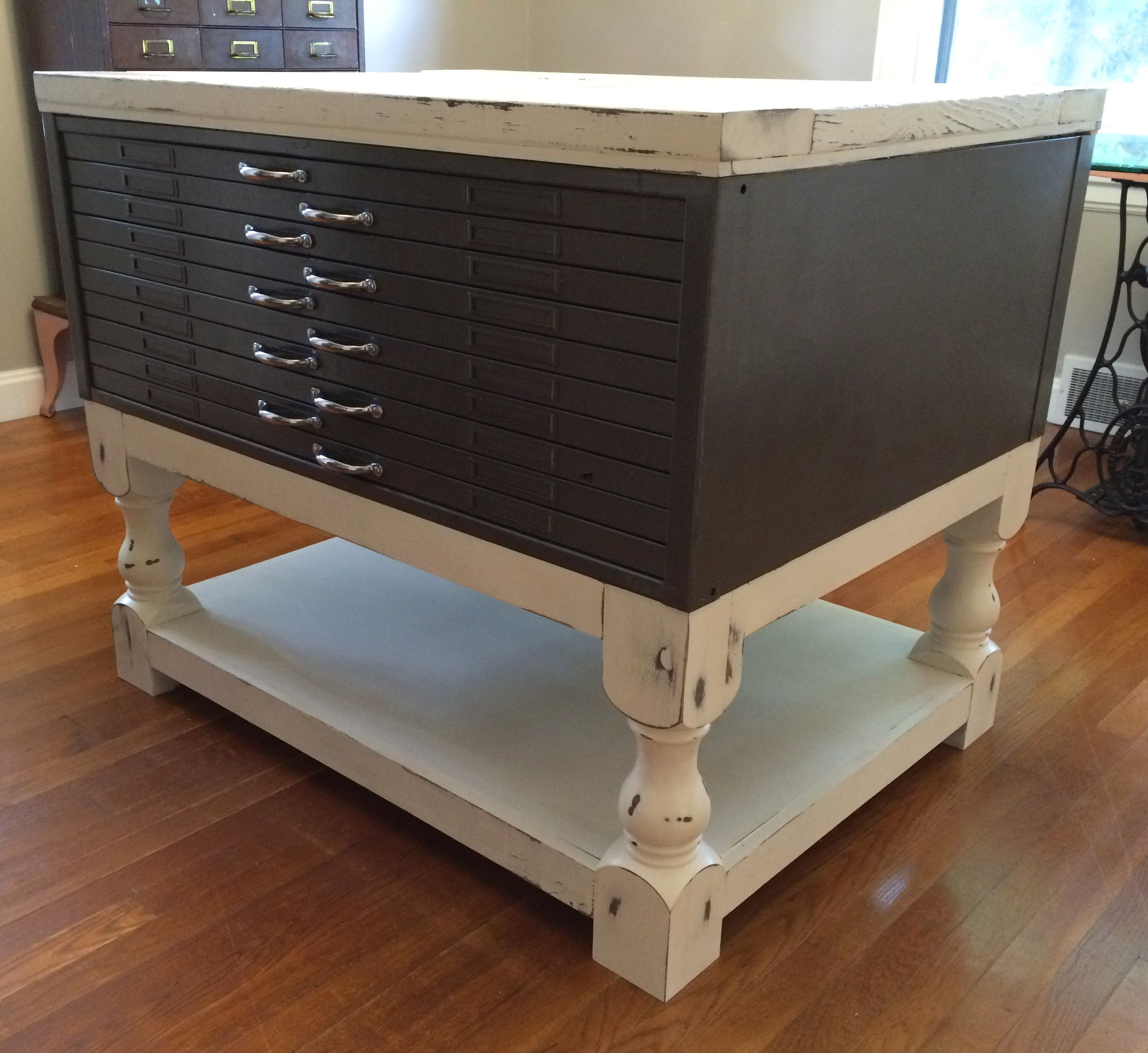 Coffee Table Plan Modified for Flat File Cabinet Table