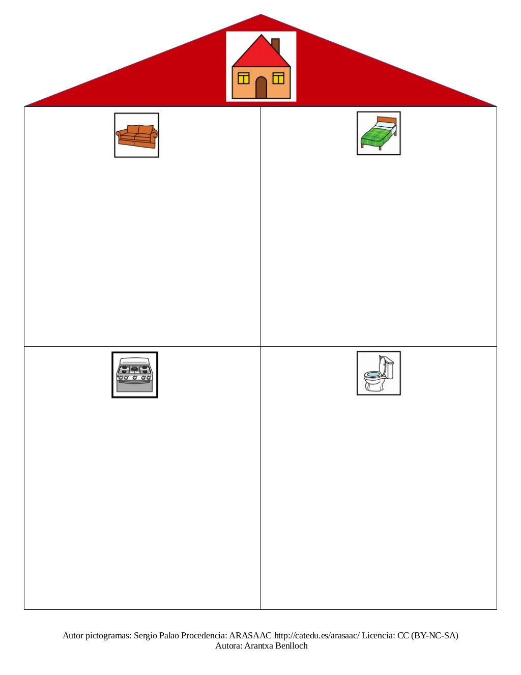 Categorizacion Casa Objetos Y Acciones By Anabel Cornago