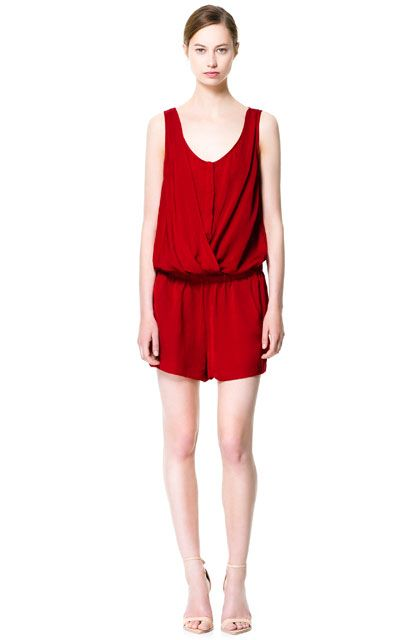 6f98f69d Image 1 of WIDE STRAP JUMPSUIT from Zara | My shopping list and ...