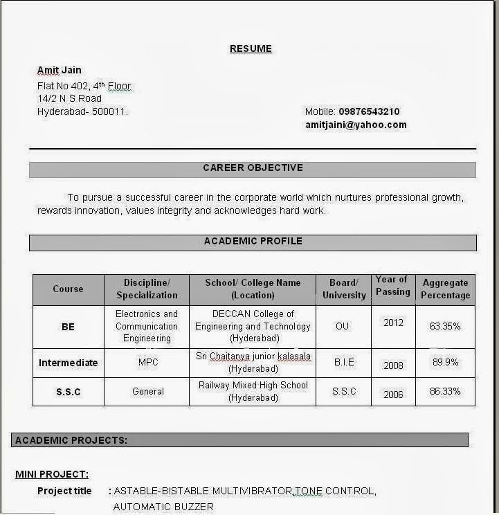 Resume Examples For Electronics Engineering Students Http Www Jobresume Website Resume Examp Job Resume Examples Downloadable Resume Template Resume Format