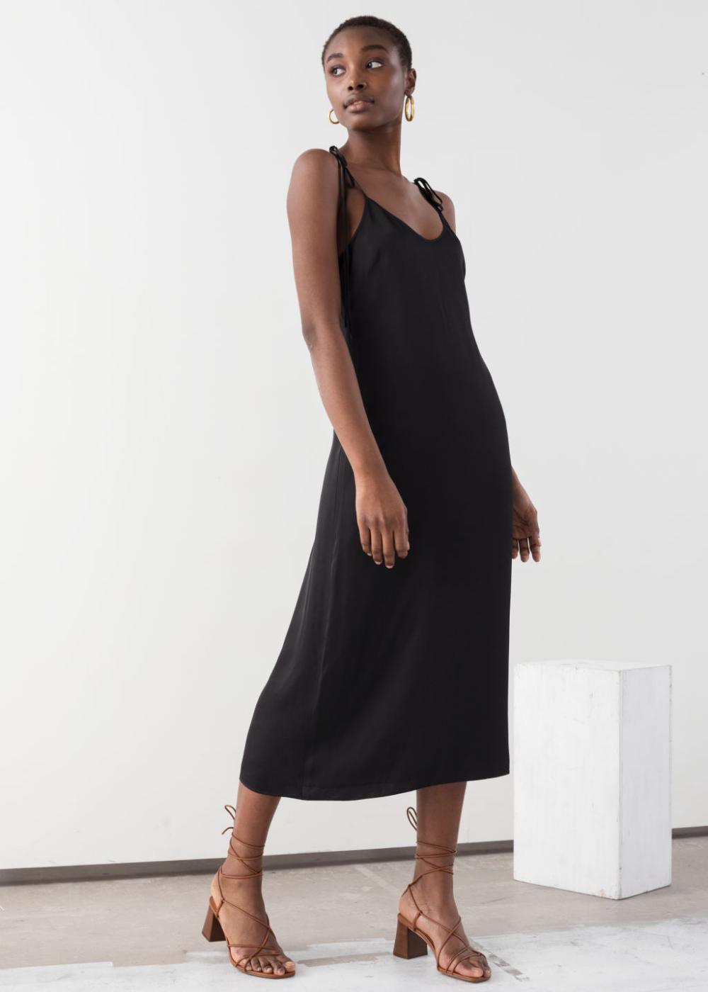 Shoulder Tie Midi Slip Dress Slip Dress Midi Slip Dress Dresses [ 1400 x 1000 Pixel ]