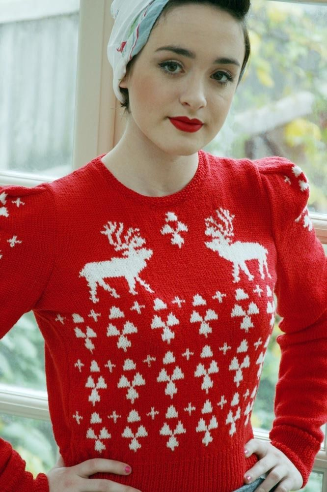 37c55f7a0 Christmas sweater knitting patterns  perfect sweater in Susan Crawfor  Excelana 4 Ply- download at LoveKnitting
