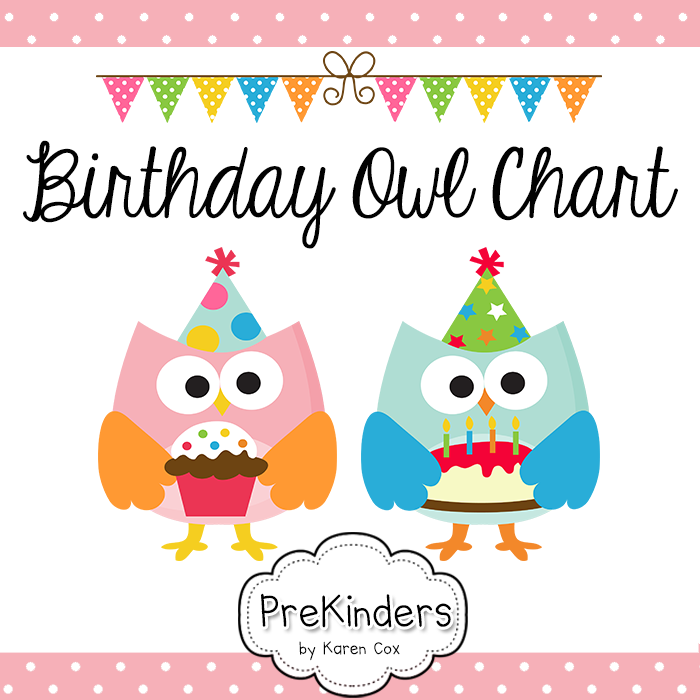 Classroom Design Printable : A printable birthday chart for your classroom with owls