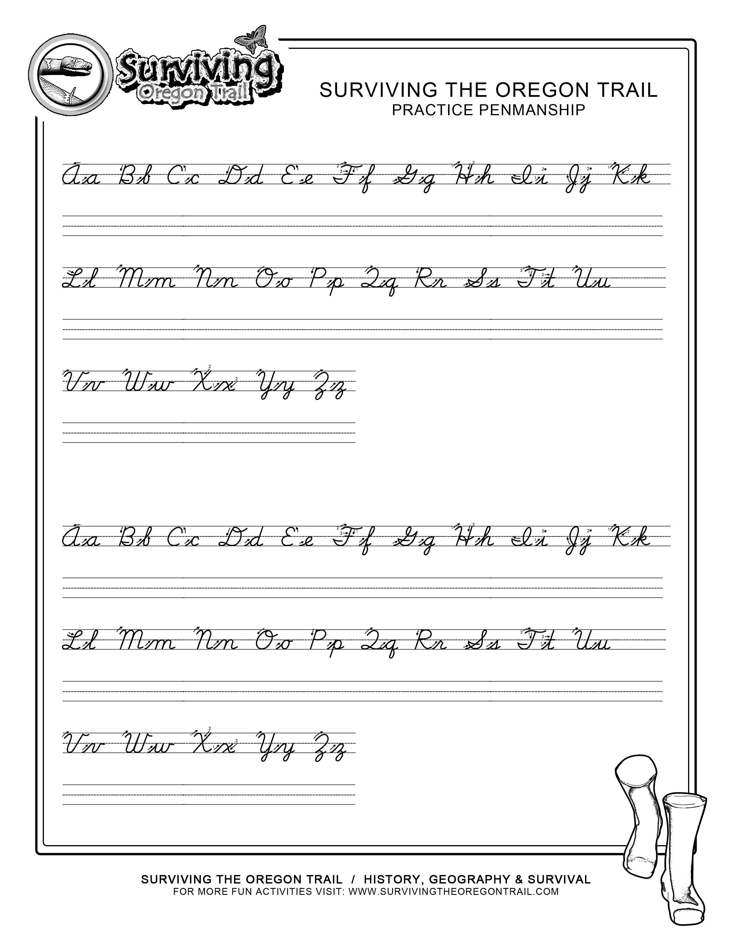 Abc Handwriting Worksheets In With Images