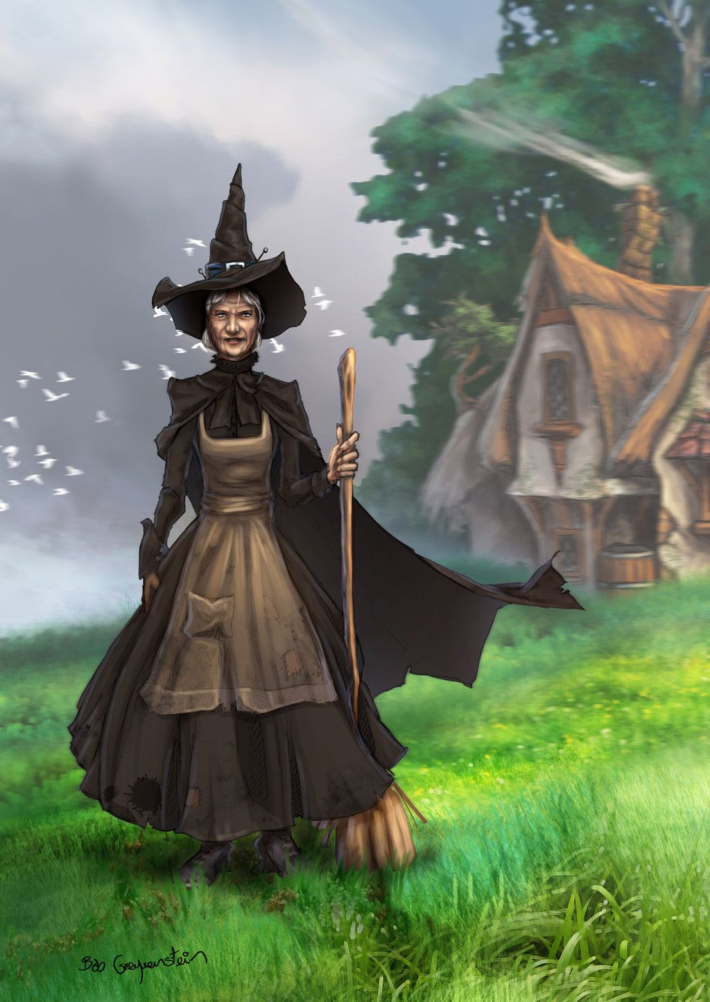 Ok - here goes : my favourite Discworld Witches: L-R
