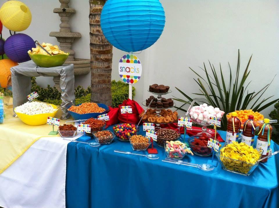 Mesa de botana para fiestas decorada casita del detalle - Mesas decoradas para fiestas ...