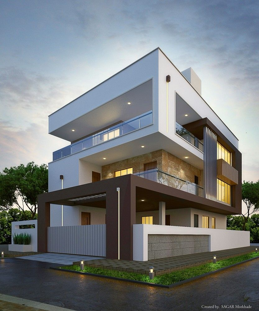 Modern residential house bungalow exterior by argar morkhade also simple and beautiful front elevation design houses in rh pinterest