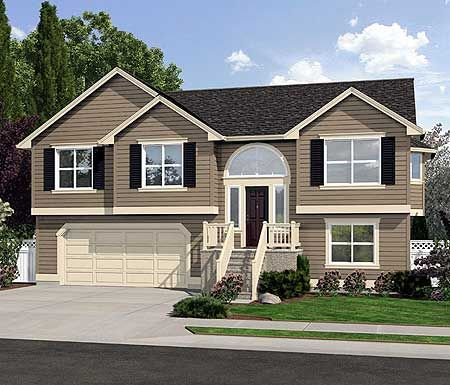 Spacious Split Level Home Plan Siding Pinterest