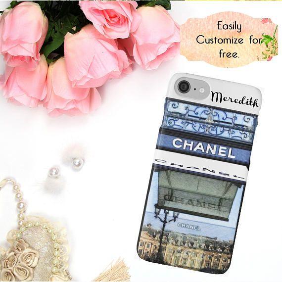 Chanel Phone Case Chanel Paris Store Watercolor Phone Case