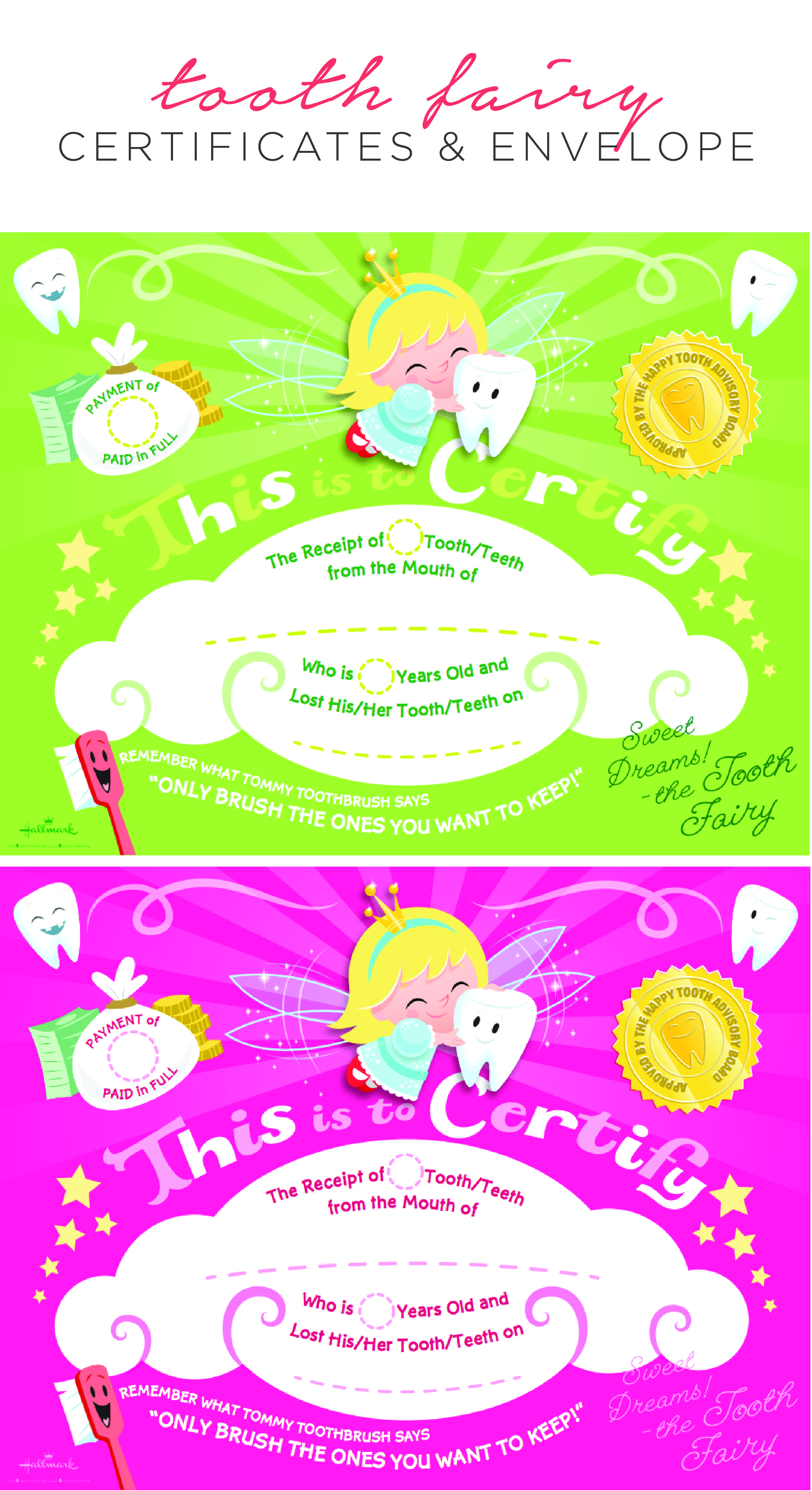Special Delivery From The Tooth Fairy Printable Tooth Fairy