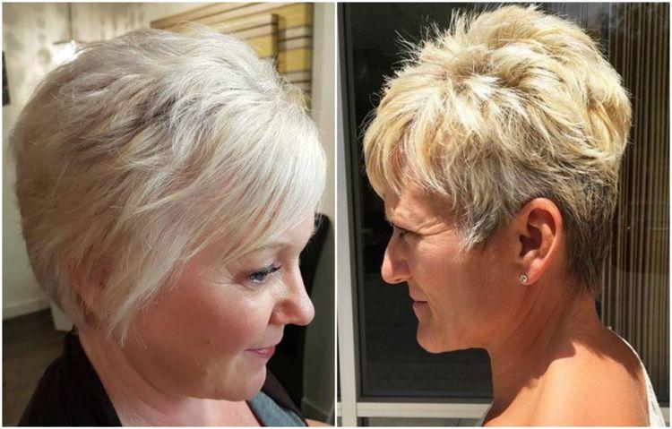 Modische Frisuren Fur Frauen Ab 50 Und Haarfarben Die Junger Machen Modische Frisuren Bunte Haare Blonde Pixie