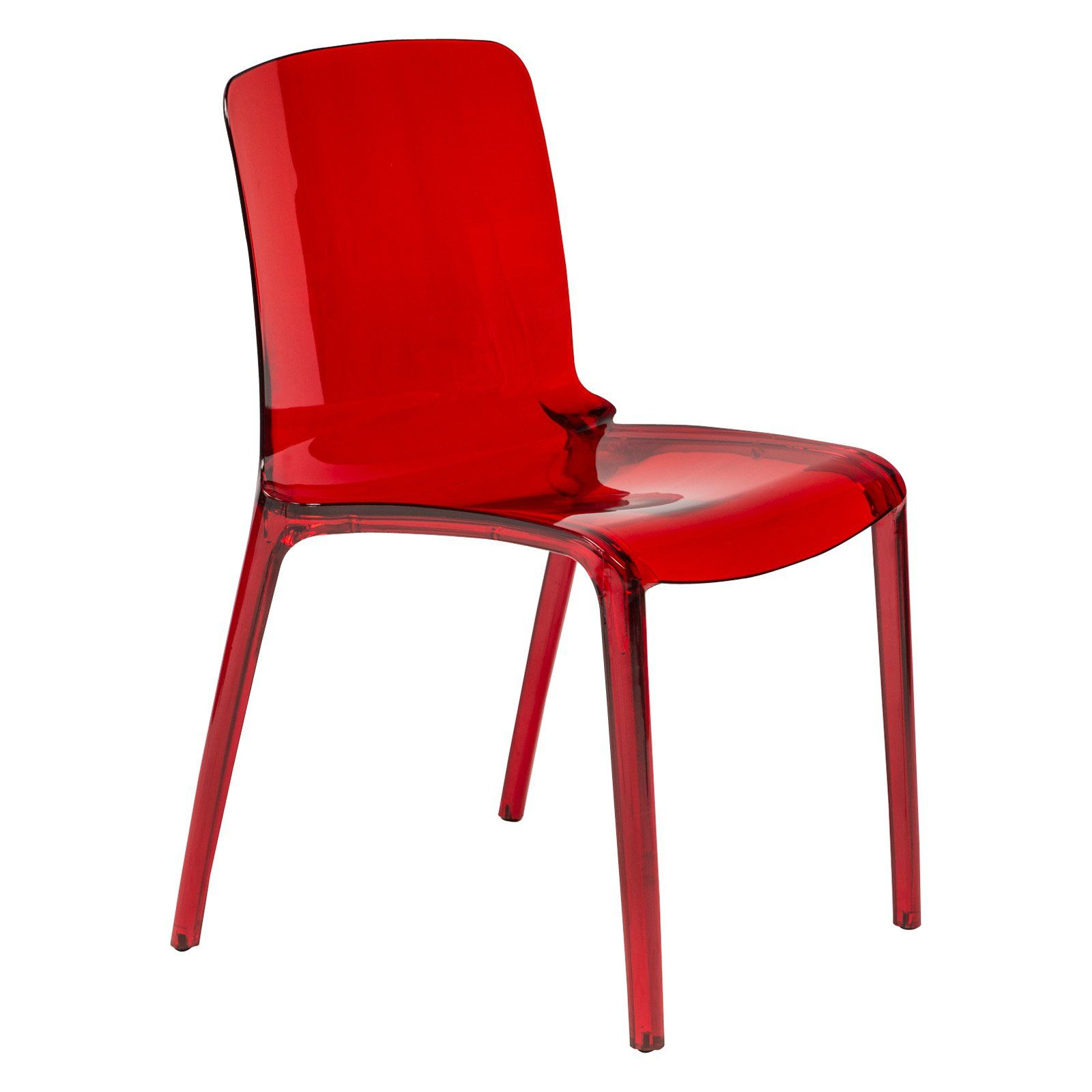 Groovy Leisuremod Murray Modern Stackable Dining Chair Transparent Beatyapartments Chair Design Images Beatyapartmentscom