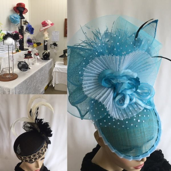 Gallery Display Maleny October 2015  BY MAREE DEGRAW #millinery #hats #HatAcademy