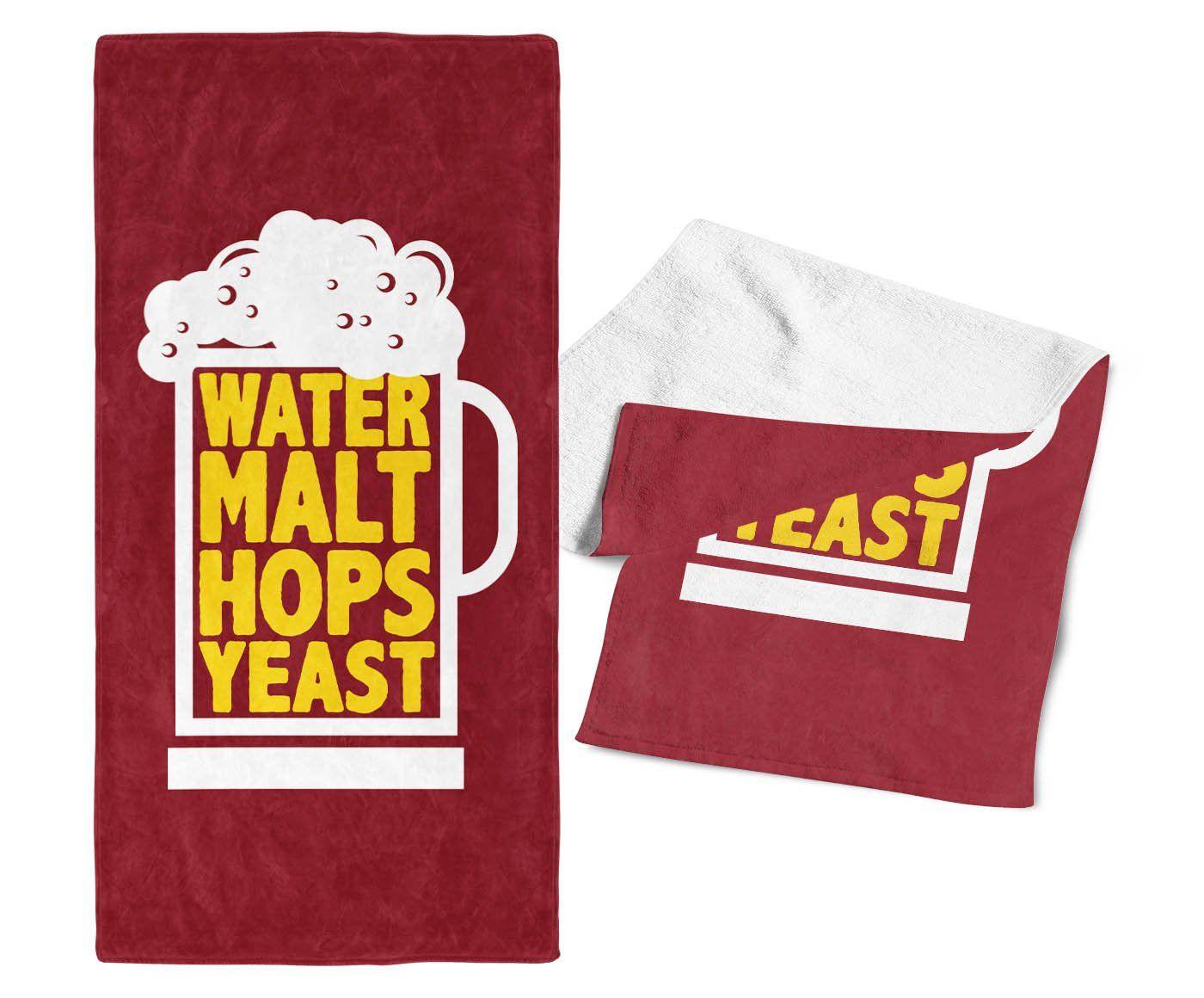 Water Malt Hops Yeast Bar Towel Malt, Yeast, Towel