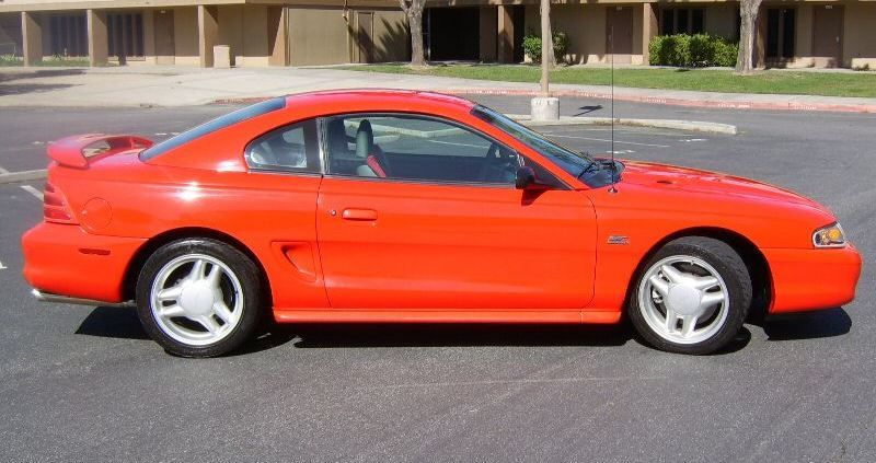 Vibrant Red 1994 Mustang Gt Coupe Mustang Gt Mustang Red Mustang