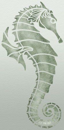 Free Seahorse Printable Stencil Design Stencil Crafts Seahorse Stencils Printables