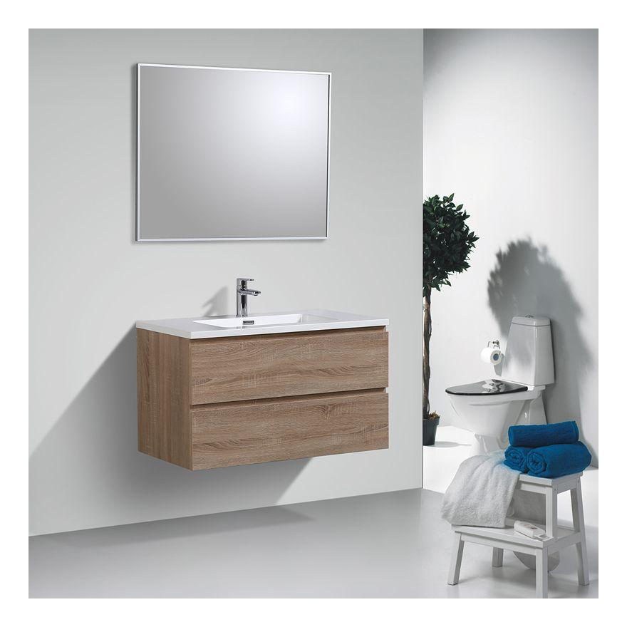 EN STOCK : Pack meuble de salle bain suspendu 100 cm couleur ...