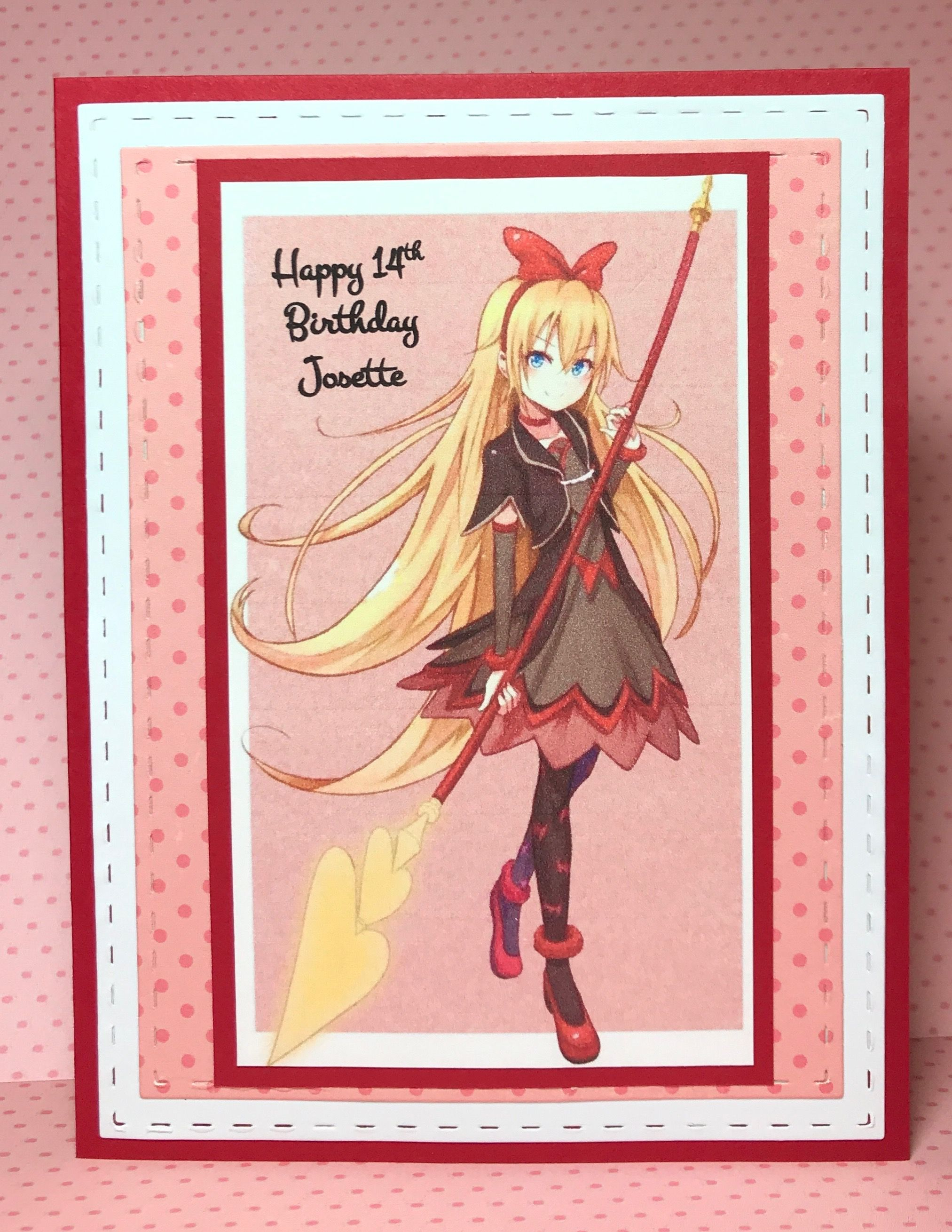 Anime Glitter Girls Birthday Card By Marci Kay S Kreations Girl