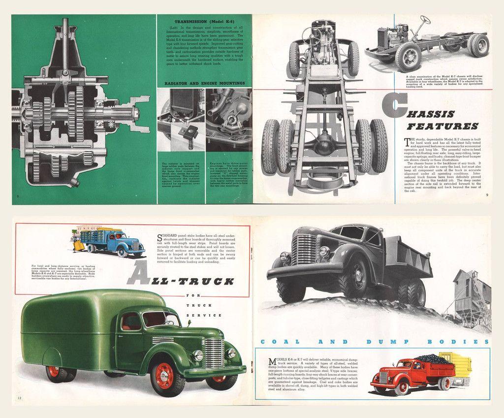 1945 international harvester trucks brochure cars - Moissonneuse cars ...