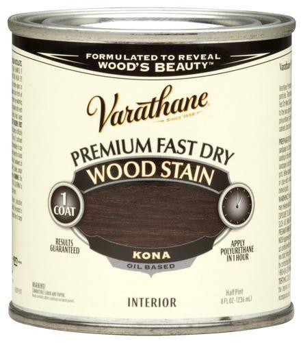 Varathane Premium Kona Fast Dry Wood Stain 1 2 Pt At Menards