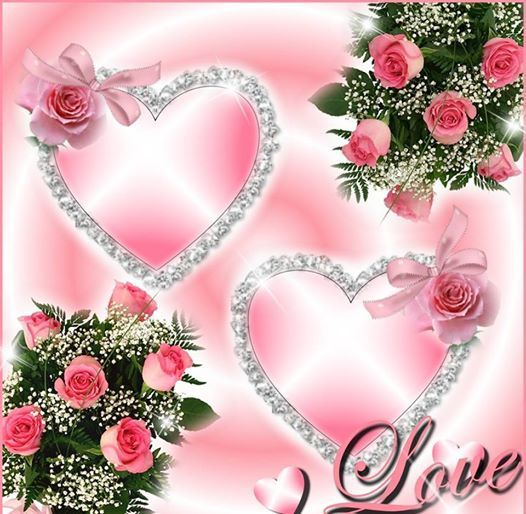 Pink roses and hearts hearts 3 pinterest pink roses - Pics of roses and hearts ...