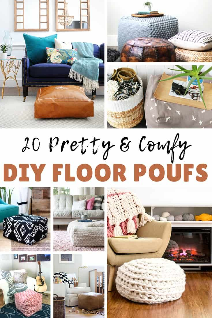 20 Creative Diy Floor Poufs You Can Make At Home Try Out These Diy Ottoman Projects To Give Your Home A Fresh Look Diy Craf Diy Pouf Diy Ottoman Floor Pouf