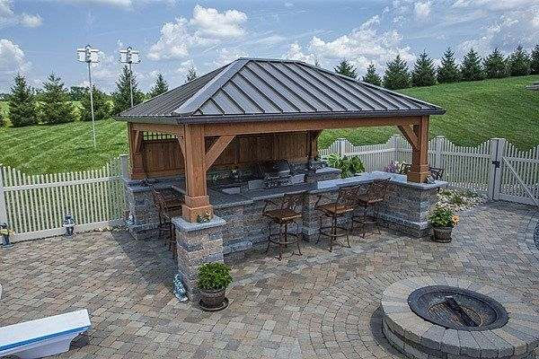 Patio And Outdoor Kitchen Amp Covered Bar Cour Ext 233 Rieure