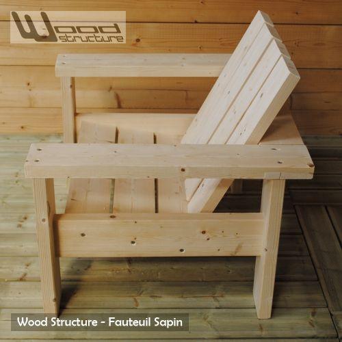 Fauteuil Sapin - Fauteuil Design Wood Structure - | Pallets ...