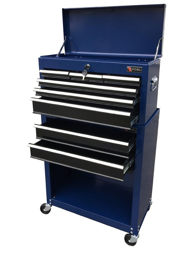 Rolling Tool Box Storage Cabinet Drawer Mechanic Garage Toolbox Organizer Chest Unbranded