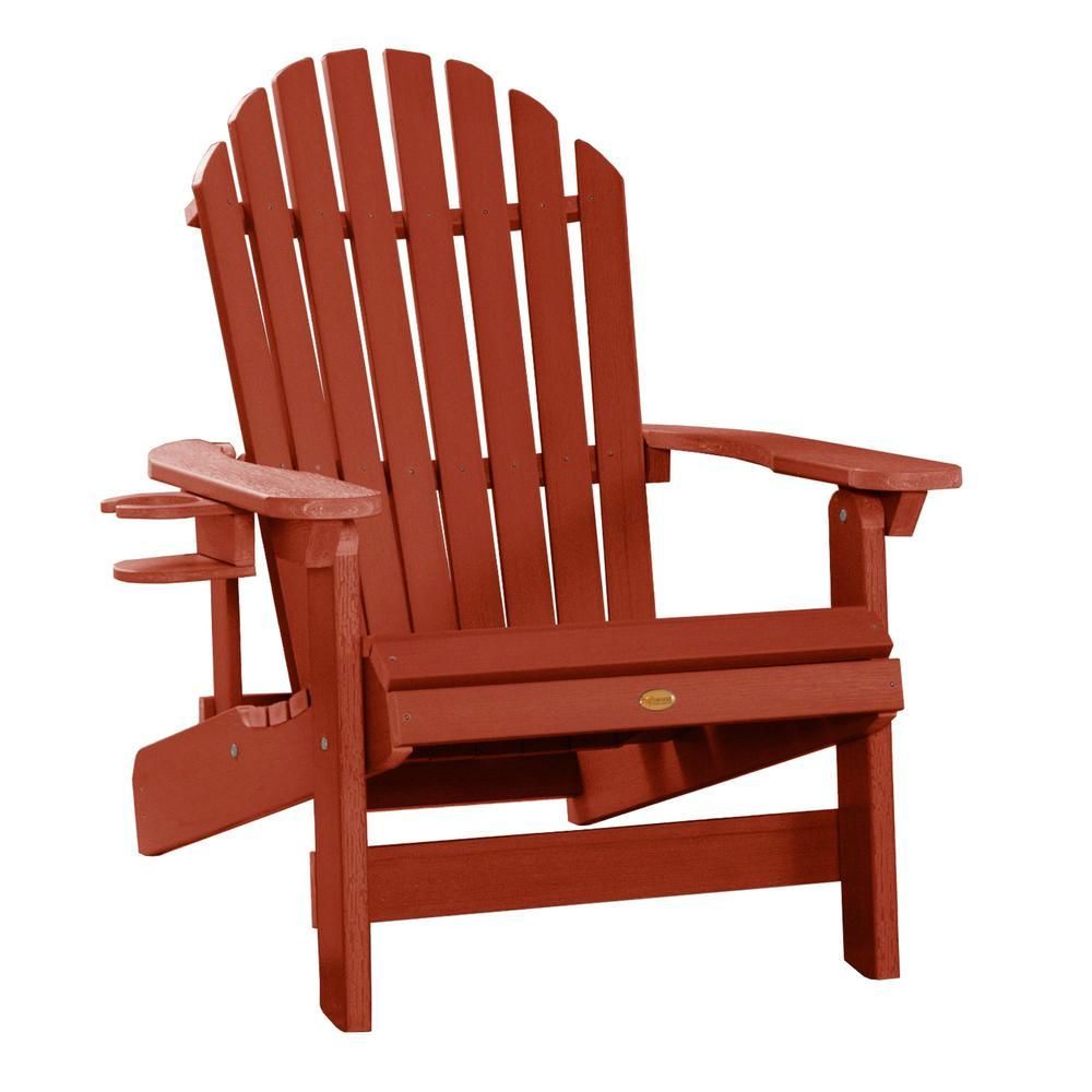 Highwood King Hamilton Rustic Red 2 Piece Recycled Plastic Outdoor