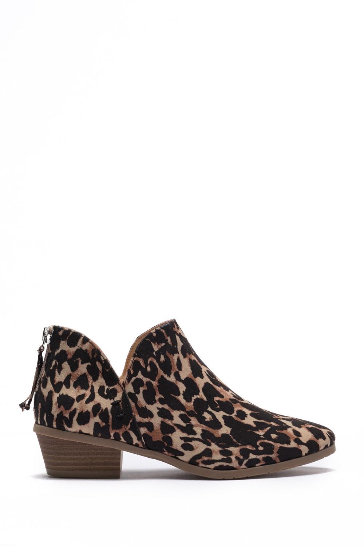 Side Way Leopard Print Ankle Bootie #nordstromrack
