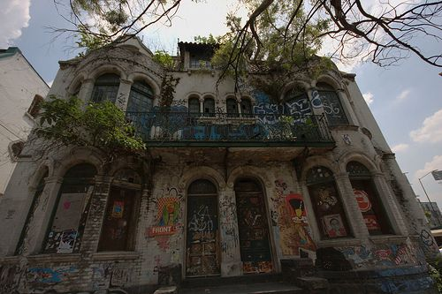 Abandoned Victorian homes in Colonia Roma, Mexico City