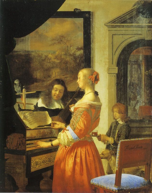 Frans van Mieris the Elder - The duet A something about 16 - 17th