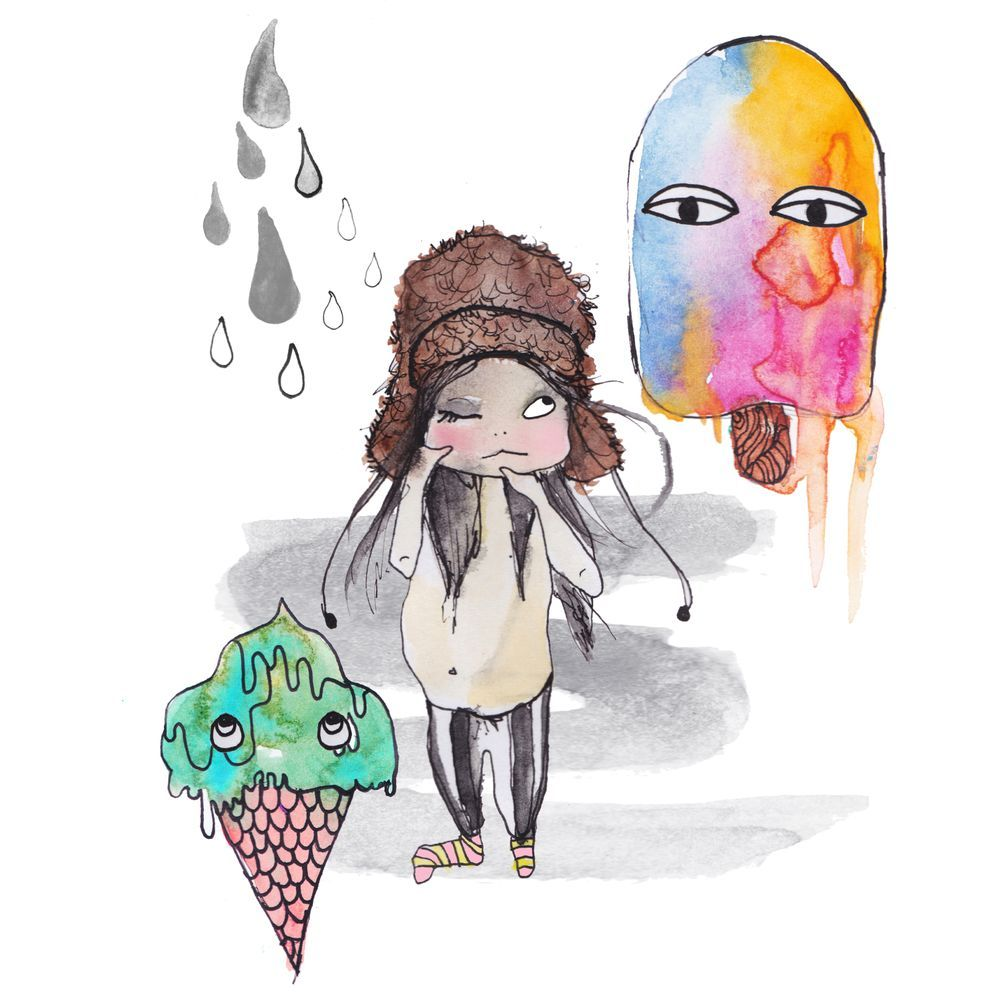 """Poster """"IT´S ICE CREAM WEATHER"""" 50 x 70 via DELLEMYR. Click on the image to see more!"""
