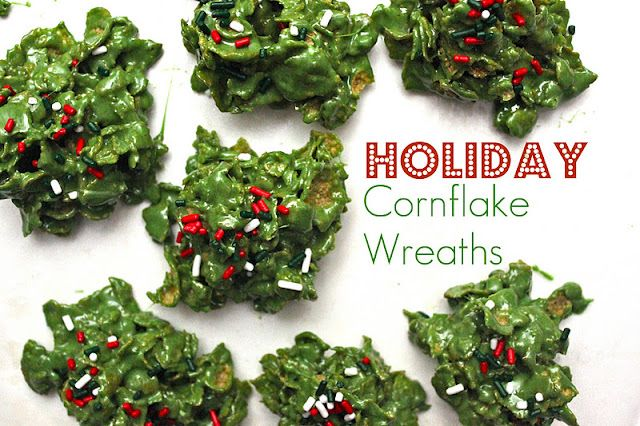 Mom used to make these at Christmas. The cornflake wreaths can be ...